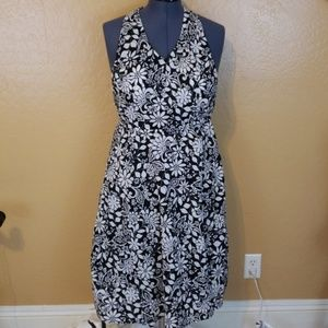 AGB Black and White Halter Dress Size 12